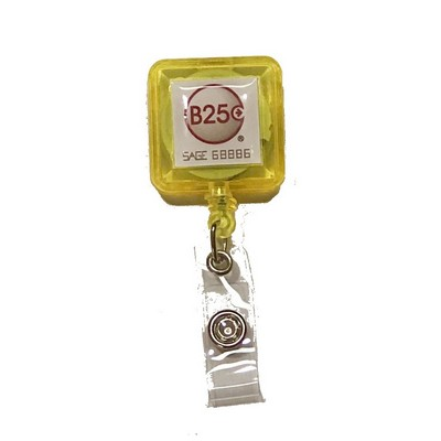 Square Badge Reel with Clip