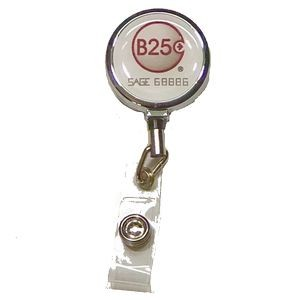 Metal Badge Reel with one side full color epoxy dome logo