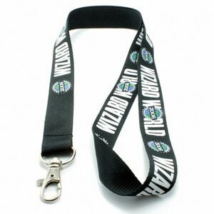 "1"" wide Silkscreened Polyester Lanyard with one standard attachment"