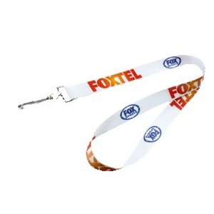 "3/4"" wide Full Color Sublimated Lanyard with one standard attachment"