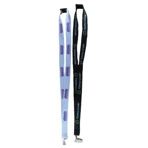 "1"" wide Woven Eco Friendly Lanyard with one standard attachment"