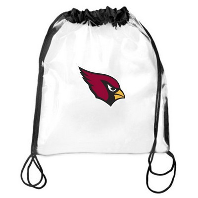 "Clear 12"" x 12"" Stadium Drawstring Backpack"