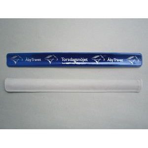 "11.8"" x 1.18"" PVC Slap Bracelet with 1-Color Silkscreened Imprint"