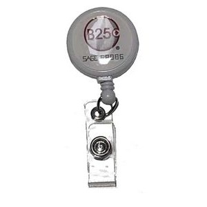 Badge Reel with one side full color epoxy dome logo