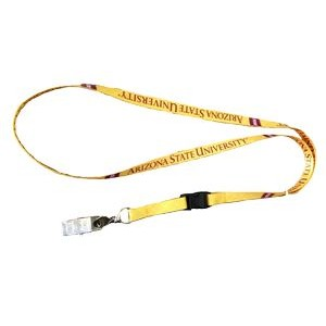 "3/8"" wide Full Color Sublimated Lanyard with one standard attachment"