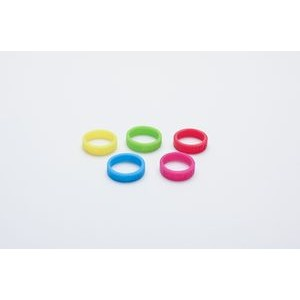 "1/4"" (6mm) Wide Solid Color Silicone Ring; Embossed"