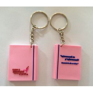 "1.5"" 3-D PVC Keytag, Lapel Pin, Zipper Pull"