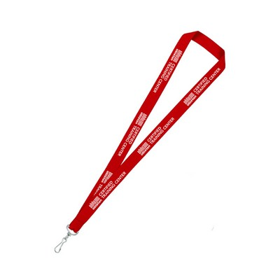 "3/4"" wide Silkscreened Polyester Lanyard with one standard attachment"