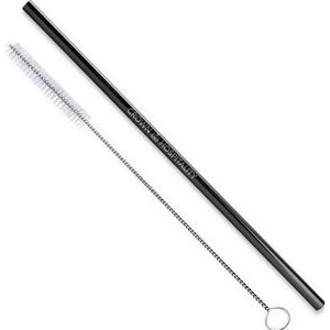 Black or Blue Stainless Steel Straight Straws