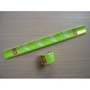 "15.7"" x 1.18"" PVC Slap Bracelet with 1-color Silkscreened Imprint"